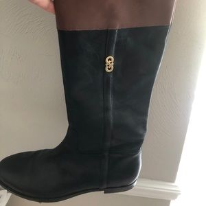 Cole Haan Two Tone Riding Boots 9.5 EUC